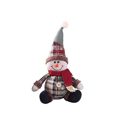 Gfjhgkyu natale babbo natale pupazzo di neve ornamento party natale decorazione da tavolo bambola regalo
