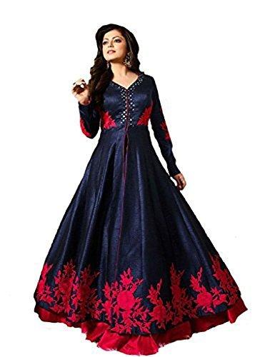 Special Mega Sale Festival Offer C&H Blue Banglori Designer Semi-Stitched Anarkali Suits