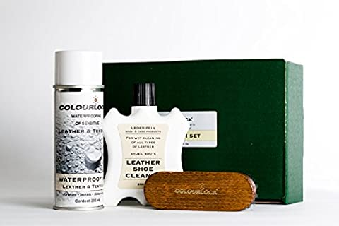 COLOURLOCK Suede & Nubuck Shoe Cleaning, Care & Protector Kit ideal for suede shoes boots and other footwear