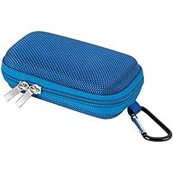AGPTEK BC Protezione Copertura Durevole a Conchiglia per Lettore MP3 e Auricolare, Titolare con moschettone di Metallo, Colore Blu