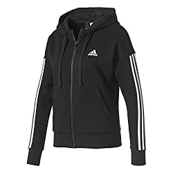Adidas Women Essentials 3-stripes Hoodie Jacket - Blackwhite, S