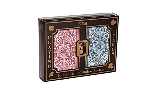 Standard-steg (Kem Arrow Rot und Blau, Steg Größe Standard Index Spielkarten)