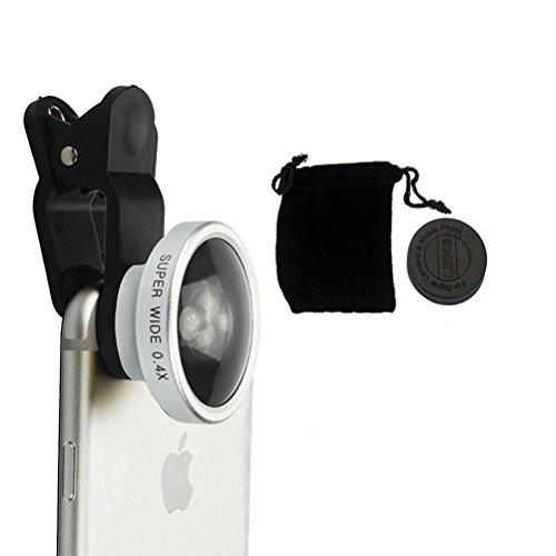 House of Quirk Detachable Universal Super Wide 0.4x Angle Clip Selfie Cam Lens for Smartphones(Multicolour)