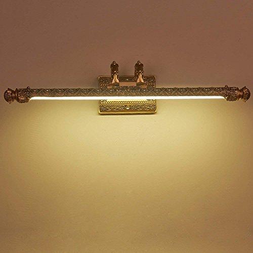 Vintage Spiegel vordere Lampe/Kreative Schmiedeeisen Hohl/geschnitzte Muster/Spiegelleuchte Bad Wasserdichte Lampe Durchmesser 52 cm Abstand Wand-/14 cm, Weiß Led
