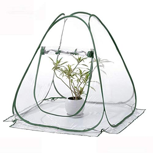 Xigeapg Pvc Portátil Plegable Cubierta de Invernadero -Jardín Invernadero Cubierta de Protección Al Aire Libre Para Aves Siembra Parásito