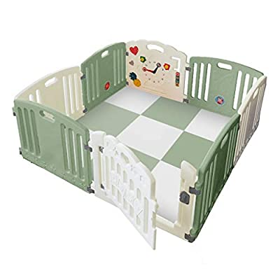 Venture All Stars Duo Baby Playpen Green