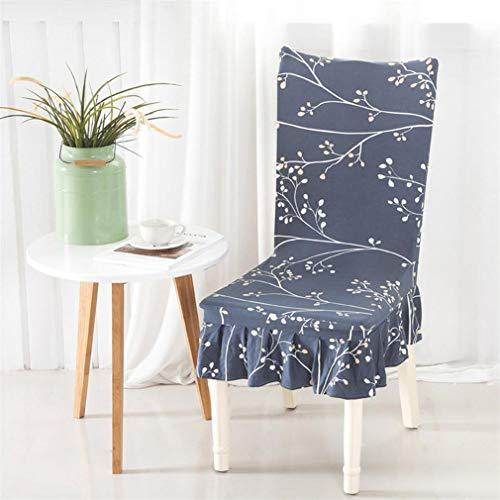 Yiqinyuan Stuhlabdeckung Spandex Elastic Stuhl Fall Rock Schutzhülle Abnehmbare Anti-Schmutzige Küche Stretch Stuhlabdeckung Für Bankette A universal