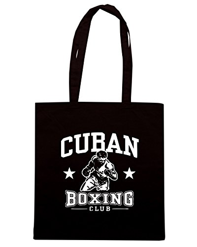 T-Shirtshock - Borsa Shopping TBOXE0077 cuban boxing tshirt Nero