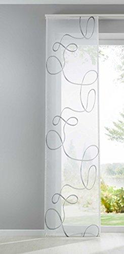 Shangrila Flächenvorhang Bursa Schiebegardine transparent Linien Muster Raumteiler HxB 245x60 cm Schwarz, 10000148