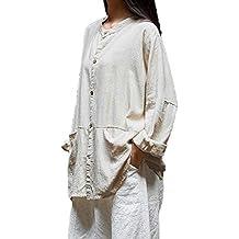 Mujer Shirt Dress Blusa Camiseta Floral Impresión Vintage Bohemian Traje de otoño Calle y Playa,