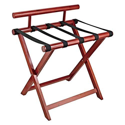 DJSMxlj Gepäckträger, massives Holz, zusammenklappbar, für Schlafzimmer, Hotel, Koffer, Gepäckaufbewahrung, Zimmerregal, Kleiderbügel für Schlafzimmer - Gepäckträger Schlafzimmer