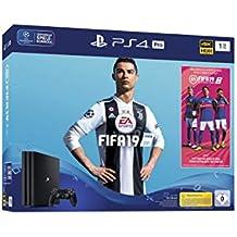 PlayStation 4 Pro - Konsole (1TB) inkl. FIFA 19 + 1 DualShock 4 Controller [Edizione: Germania]