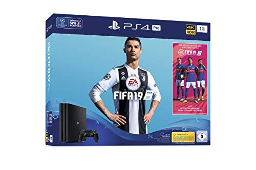 PlayStation 4 Pro - Konsole (1TB) inkl. FIFA 19 + 1 DualShock 4 Controller Team Warm Ups