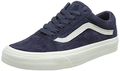 Vans Unisex-Erwachsene Old Skool Sneaker, Blau (Pig Suede), 44 EU