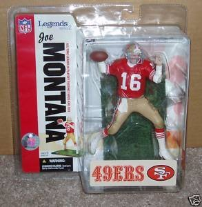 Niner Jersey (Joe Montana # 16 San Francisco 49 'ers Forty Niners Red Jersey McFarlane NFL Legends Series 2 by McFarlane (English Manual))