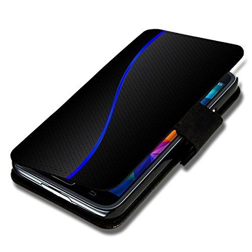 Book Style Flip Handy Tasche Case Schutz Hülle Schale Motiv Etui für Wiko Ridge Fab 4G - Flip 1A46 Design4