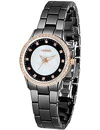 Time100 Montre de luxe incrustée des diamants Saphir miroir Bracelet en Céramique de haute technologie pour femme et fille #W50375L.03A