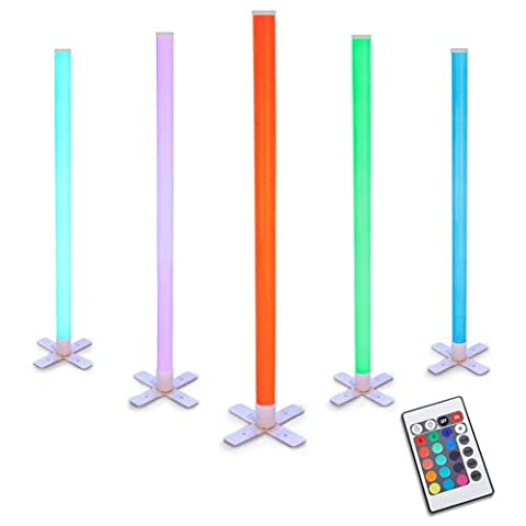 Remote Controlled RGB Colour Changing LED Standing Disco Light Stick
