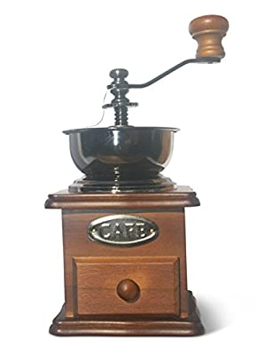 Manual Coffee Grinder - solid Beech wood, 'professional' ceramic burr - SALE PRICE! from Molmo