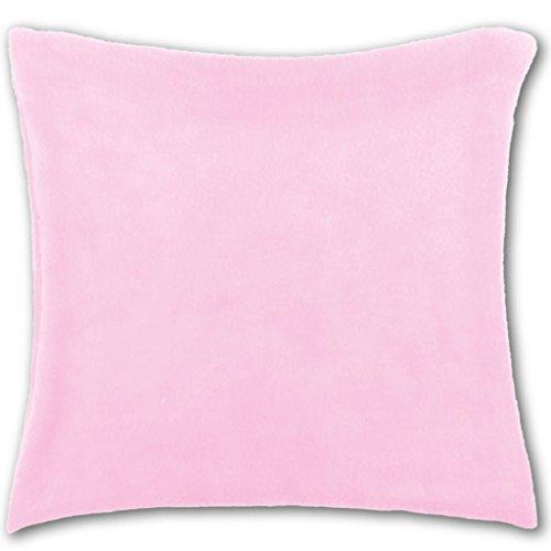 Bestlivings Kissenhülle Kuschel 60x60cm Kissenbezug Dekokissen Auswahl: rosa - Hellrosa ohne Füllung (Kissenbezug Mikrofaser-rosa)