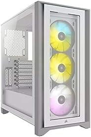 Corsair Cc-9011205-Ww Icue 4000X Rgb Temperli Cam Yan Panel Mid Tower Bilgisayar Kasası Beyaz