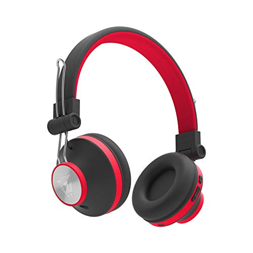 Ant Audio Treble H82 On-Ear Bluetooth Wireless Headphones with Mic (Black and Red)