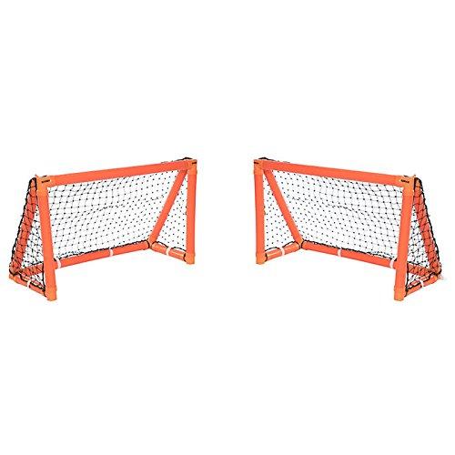 Phoenix Sporting Goods Unisex-Jugend Gorilla Training Aufblasbares Hockey-Tor, Orange/Noir, TU (Kunststoff-hockey-tor)