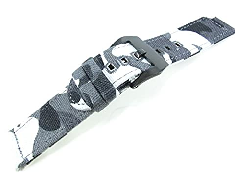 22mm weiß camouflage Leinwand Gurt Band Sport Armee Armband Military Armbanduhr Teile