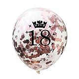 Vovotrade Konfetti Luftballons Roségold Transparente Pailletten Latex Ballons Konfetti Ballon Für Geburtstagsfeier Hochzeit Party Valentinstag Dekorationen 5PC (Roségold, A)