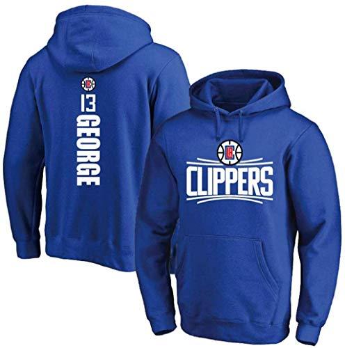 Z-ZFY Männer Frauen NBA Hoodie - Los Angeles Clippers # 13 Paul George Jersey Fan Basketball Kleidung Warm Und Geeignet Für Den Herbst Und Winter Sind,Blau,L170~175cm