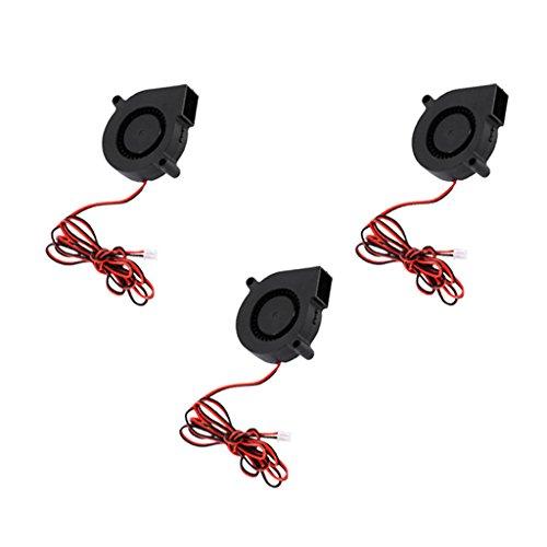 MagiDeal 3pcs Ventilateur de Soufflage Refroidisseur Radial Ventilateur DC 24V Accessoire Remplacement D'Imprimante 3D