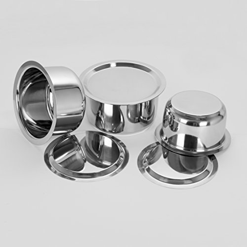 Sumeet 3 Pcs Stainless Steel Induction & Gas Stove Friendly Container Set / Tope / Cookware Set With Lids Size No.10 To No.12  available at amazon for Rs.819
