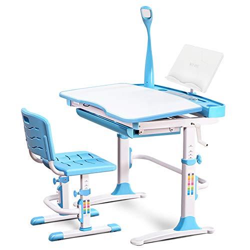 ZXQZ Korrektiv Stuhl Stuhl Lift Computer Hocker Kinder lernen Home Swivel Stuhl Sitzhaltung Korrektur Student Schreibtisch Stuhl Tabelle und Stuhl Set 2 Farben Optional klappschreibtisch