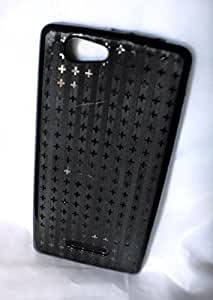 Black PREMIUM Quality patterned Back Cover For Xolo A500s