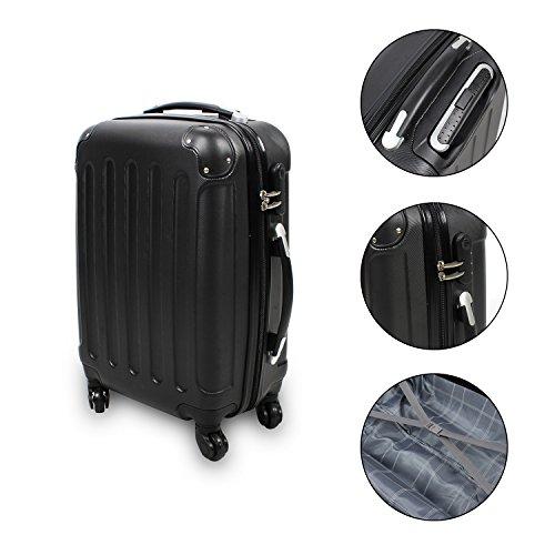 Storaddict SA10055-1 Bagage pour Cabine/Valise à Main, Plastique, Noir, 56 x 38 x 22 cm