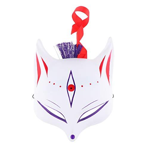 F Fityle Fox Makse Japanische Kostüm Cosplay Fuchs für Herren Damen Kinder - C (Kostüm Fox Baby)