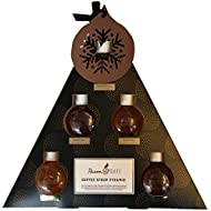 Raven Cafe Coffee Syrup Pyramid Boxed Gift Set of 6 Assorted Syrups