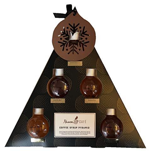 Raven Cafe Kaffeesirup Pyramidenform in Geschenkbox, 6 verschiedene Sirupen