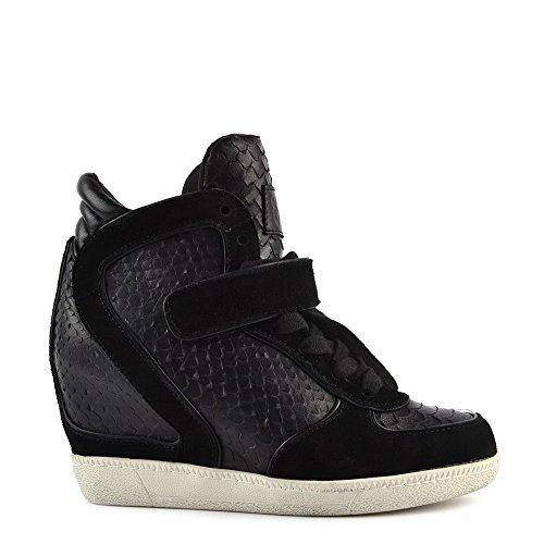 Damen Leder Ash Sneaker Aus Brendy Schwarz W76wvxSpRq