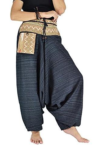 Damen Haremshose Pumphose Aladinhose Handarbeit Baumwolle Yoga Einheitsgr??e (Piraten-mädchen-kostüm Uk)