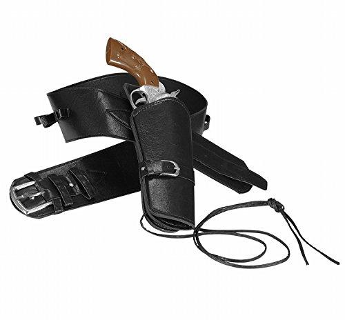 Widmann 01050 - Cowboygürtel schwarz, mit 1 Tasche aus ()