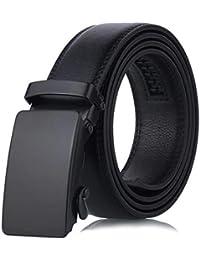 Kloius Cinturón Hombre Cinturón de Hebilla Automática de Cuero Sintético 2c1d4f00c69c