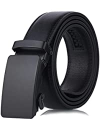 Kloius Cinturón Hombre Cinturón de Hebilla Automática de Cuero Sintético a8617d1736e