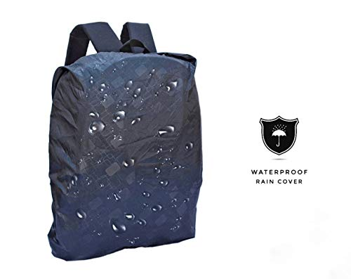 DEIN KLEIDER Unisex 40 L Large Capacity Casual/School/Laptop Backpack (Black) Image 3