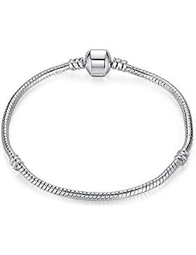 Armband aus Silber, 20cm, für Charms im Stil von Pandora/europäischen Charms, Geschenkbox von Truly Charming