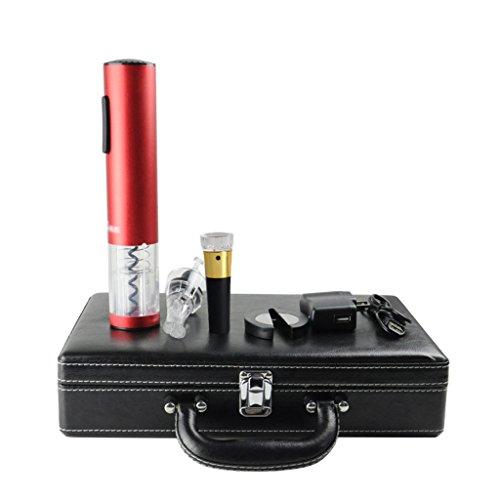 SUBBYE Cork Remover Tire-bouchon Rechargeable Multifonctionnel Électrique Rouge Bouteille De Vin Ouvre Coffrets Cadeaux De Haute Qualité
