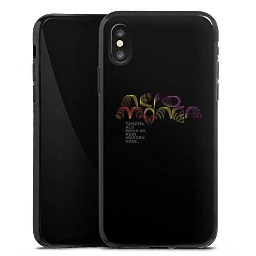Apple iPhone X Silikon Hülle Case Schutzhülle Neromonga - tanzen Spruch Schwarz Silikon Case schwarz