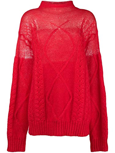 Maison Margiela Damen S29gp0078s16552307 Rot Wolle Sweater
