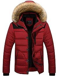 Betrothales Herren Langarm Jacken Männer Wattierte Steppjacken Warme  Fellkapuze Down Jacket Winterjacke Ntel Wintermantel Outerwear 6d4c7a178c