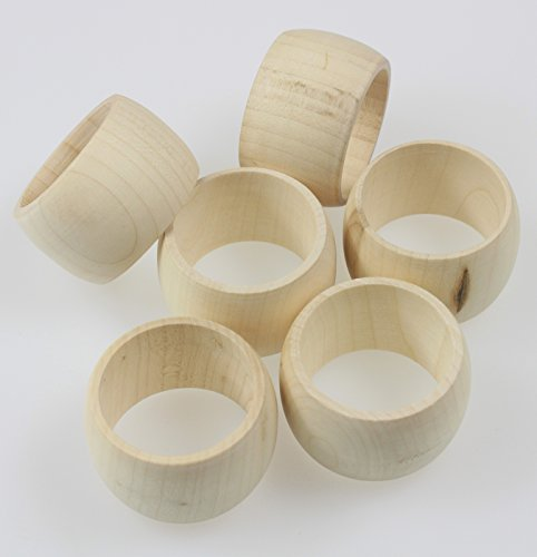 Wooden Napkin Rings 6-Pieces Set by Wooden Napkin Ring